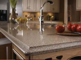 Kalahari Granite Countertop with Ogee Bullnose Edge Profile